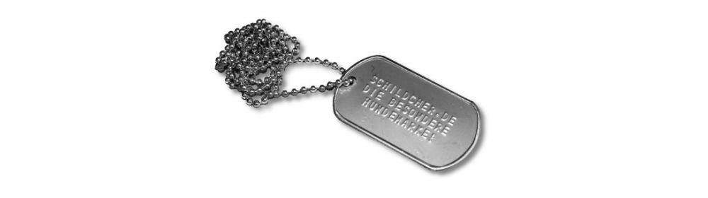 Hundemarken im Army-Dogtag-Style